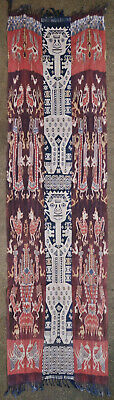 Textile weave antique tribal Indonesian Indonesia Ikat 1950