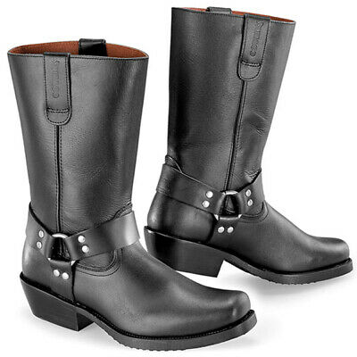 Falco Biker Motorcycle Black Leather Boots Teel Shank Oil Proof Sole CLEARANCE T