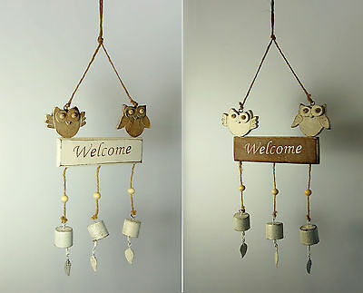 Owls Welcome Sign / Windchime
