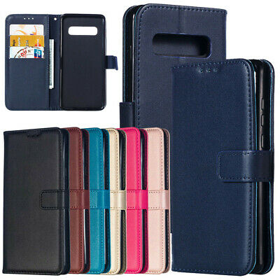 For Samsung Galaxy S10+ S10e Magnetic Wallet Card Slot Flip Leather Case Cover