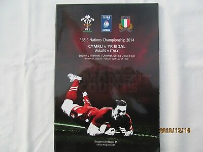 Wales v Italy. 2014. Rugby Union