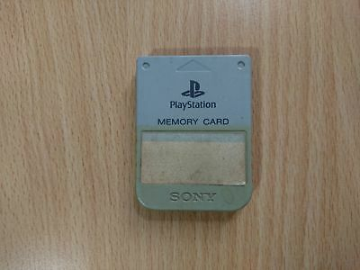 PS1 Sony PlayStation 1 - Official/Genuine Memory Card (Grey) PS1/PSX/PS2 H