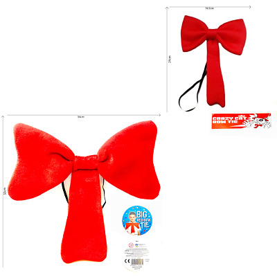 Bow Tie Large Red Fancy Dress Accessories Clown Oversized