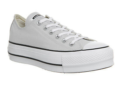 f6fee9f713add Womens Converse All Star Lift Low Trainers Mouse White Black Trainers Shoes