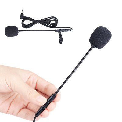KF_ Clip On Lapel Microphone Handsfree Wired Mini Lavalier Mic 3.5mm Jack Hot