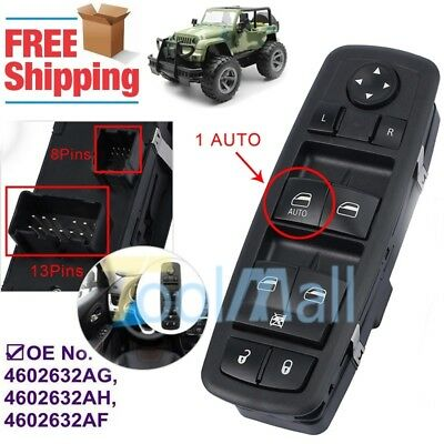 Master Window Switch for 2008-2012 Jeep Liberty 4602632AF Single Auto Down Handy Auto Parts and Vehicles Car & Truck Interior Parts