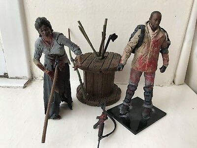 Mcfarlane Amc The Walking Dead Tv Series Morgan And Impaled Walker Action Figure