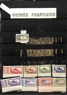 [OP8831] Guinea lot of stamps on 10 pages - see photos on description