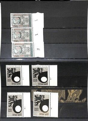 [OP8735] Belgium 1980 lot VF MNH stamps+ Plates Numbers on 9 pages