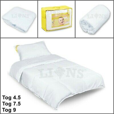 BABY COT BED Duvet Quilt Toddler Bedding Set Single With Pillows - Anti-allergy
