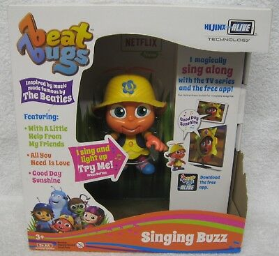 Netflix Beat Bugs Singing Buzz Interactive Toy The Beatles Songs