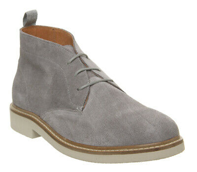 Mens Shoe The Bear Seaford Chukka Boots Light Grey Suede Boots