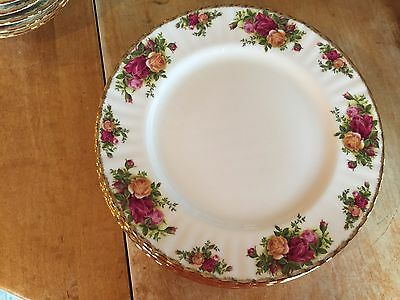 8 Royal Albert Old Country Roses Dessert Plates 1962 England