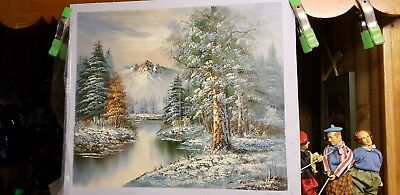 Oil Painting On Canvas  Winter mountains