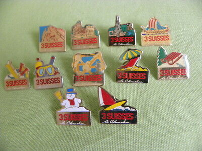 Lot Pin's Pins Societe Les 3 Suisses