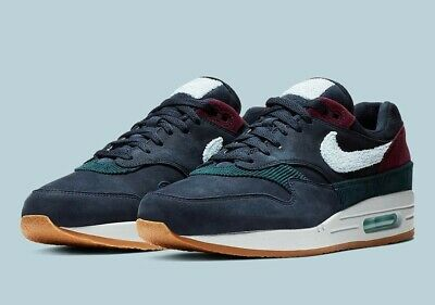 competitive price 3b895 c26f8 Nike Air Max 1 Premium Crepe Soles Obsidian Ocean Bliss UK Size 9