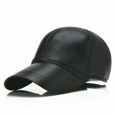 Mens Baseball Cap Leather Cap Men Hat Baseball Cap Man Sheepskin Leather Dad Hat