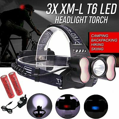 Ultra Bright Rechargeable Headlight 6000LM T6 LED Torch Headlamp Head Lamp Light