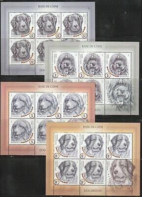 2019 Romania Stamps Dog Breeds Sheets Mnh Animals