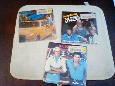 VINTAGE THE DUKES OF HAZZARD Kids Stuff Book and Vinyl Record lot 3 New/ sealed
