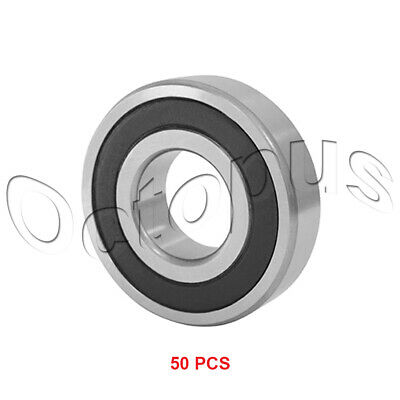 50PC R8 2RS ABEC1 Rubber Sealed Deep Groove Ball Bearing 13 x 28.57 x 8mm