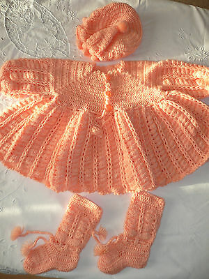 STUNNING HAND KNITTED Set to fit 19