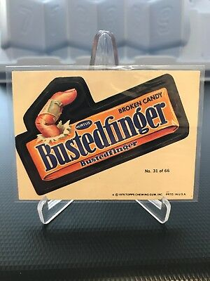 1979 Topps Wacky Packages Bustedfinger #31 31/66