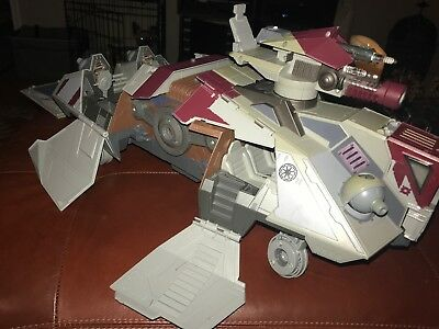 Hasbro 2008 Star Wars The Clone Wars AT-TE Walker w/ Missiles 80% Complete
