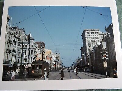 """/""""8x10/"""" New Orleans Louisiana Canal Street Holmes sign Vintage Photo Reprint"""