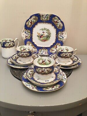 Vintage Art Deco Rare E Hughes Eusancos Part Tea Set. 1930's