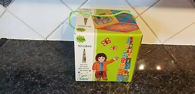 'DJECO' - 10 Cubes - Stacking  Game - 'MY FRIENDS' - Boxed - see pictures