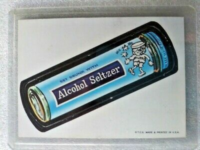 1967 Topps Wacky Packages Die-Cut  -  ALCOHOL SELTZER   #14