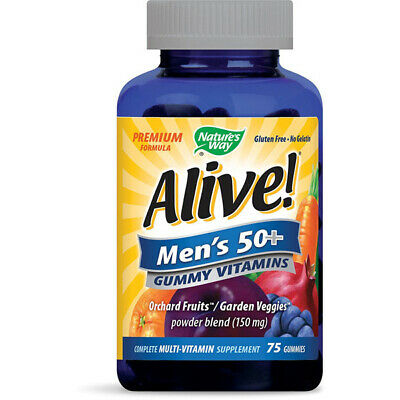Natures Way - Alive Homme 50 + Vitamines Multi-Mineral Supplément 75 Gummies