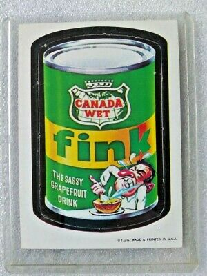 1967 Topps Wacky Packages Die-Cut  -  CANADA WET FINK     #35