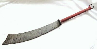 Authentic Antique Chinese Two Handed Sword 1900 Boxer Rebellion Jian Dao Axe