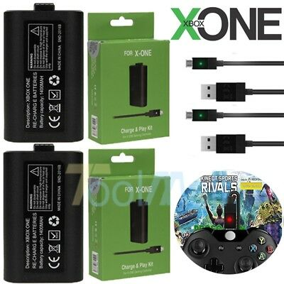 2X For Official Microsoft XBOX ONE Play and Charge Kit Xbox One FREE SHIPPING