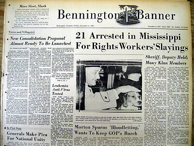 5 1964 newspapers KILLERS of 3 MISSISSIPPI CIVIL RIGHTS WORKERS arrested-CHANEY