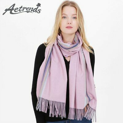[AETRENDS] 2019 Double Sided Scarf Women Winter Cashmere Feel Scarves Pashmina