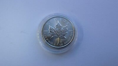 2014 Silver Canadian Maple Leaf 1oz Fine 9999 $5 Five Dollars Coin