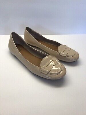 4d08fa12f00 Sperry Top-Sider Womens Nude Beige Patent Leather Penny Loafer Ballet Flat-Sz  8