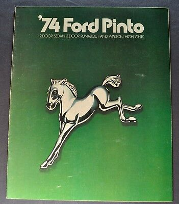 1974 Ford Pinto Catalog Brochure Runabout Pony Squire Wagon Excellent Original