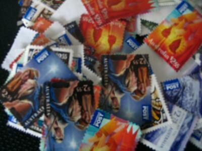 MIXED UNFRANKED/UNCANCELLED INT POST Stamps,off paper-FV OVER $500.00 -LOT #16