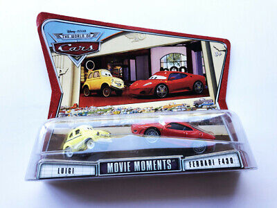 Disney Cars - Movie Doubles Diecast - Luigi & Ferrari F430 - New