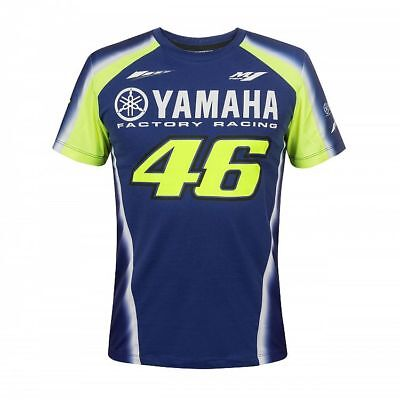 2018 Valentino Rossi 46 Moto GP YAMAHA Team T Shirt Blue 46 MENS OFFICIAL *SALE*