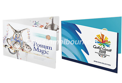 Possum Magic 2017 + Commonwealth Games 2018 Coin Set Collection UNC Australia