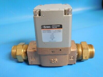 """SMC VNB401C Air Piloted Valve with 1"""" Fittings"""