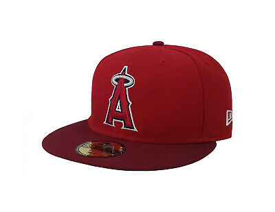 562defab3f6 New Era 59Fifty MLB Cap Los Angeles ANGELS of Anaheim 2Tone Fitted Hat Red