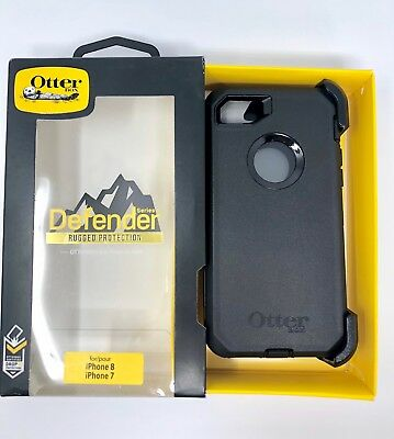 Authentic OTTERBOX DEFENDER Case Belt Clip Holster iPhone 7 iPhone 8 - BLACK