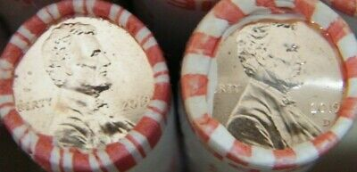 2019 P&D Lincoln Shield Cent Penny Rolls BU OBW US Coin Heads & Tails 1 of each