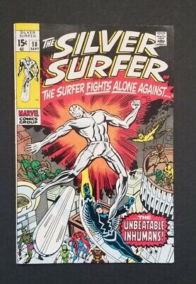 Silver Surfer #18 • Hi Grade Very Fine Or Better • Last Issue • Only Kirby Art!